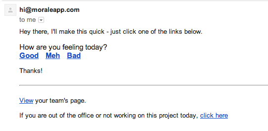 Morale daily email